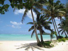 Beautiful beach on Rarotonga the Cook Islands