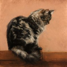 """Candice Bohannon """"Hushed"""" oil on copper 8x8"""""""