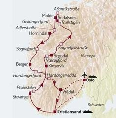 Fahren Sie auf den spektakulärsten Straßen Norwegens durch das Gebirge sowie entlang der zerklüfteten Fjorde, Gletschern und Wasserfälle.