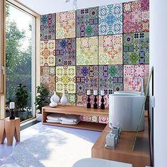 murando - Fotomurales PURO 10 m - Papel pintado tejido no tejido - Ornamento f-B-0009-j-c: Amazon.es: Bricolaje y herramientas