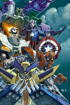 Marvel & Transformers mash up