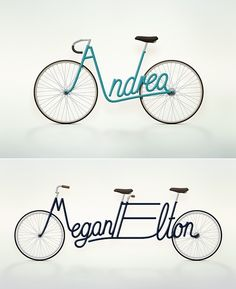 Personalized bicycle concept by Paris-based graphic designer Juri Zaech.