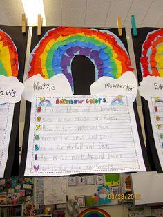 Love this rainbow craftivity!