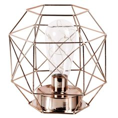 Copper Metal Cage Lamp on Maisons du Monde. Take your pick from our furniture and accessories and be inspired! Cosy Room, Copper Metal, Little Houses, Bronze, Feng Shui, Decorative Boxes, Perfume Bottles, Bedroom Decor, Metallica