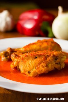 Pollo en Salsa de Pimiento. Receta   Cocina Muy Fácil   http://cocinamuyfacil.com