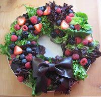 """Vegan Raw Christmas Salad Plate    Perfect """"fresh"""" dish for Christmas!"""
