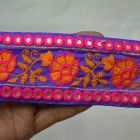 Embroidered Trim fabric trims and embellishments Sari Border