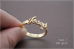 Custom Name Ring - Personalized Name Ring - Baby Name- Your name ring - New Mom Ring - Bridesmaid Je