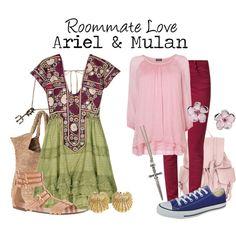 """Ariel & Mulan"" by charlizard on Polyvore"