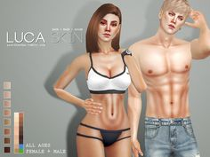 Realistic skin in 8 colors for all ages and genders. Colors can be changed in tone with default Maxis shades. Found in TSR Category 'Sims 4 Makeup sets'