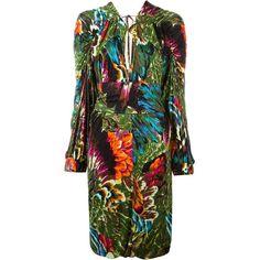 Pre-owned Kenzo Vintage kimono dress ($1,115) via Polyvore featuring dresses, vintage floral dress, floral dresses, vintage day dress, kimono dress and long-sleeve floral dresses