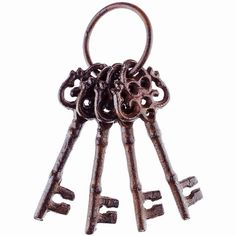 Skeleton Keys Cast Iron ANY COLOR Rustic by LondonGraceBoutique