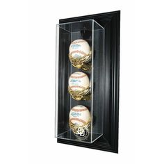 San Diego Padres MLB 3 Baseball Case-Up Display