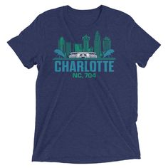 Charlotte, NC 704 Short Sleeve T-shirts | 9th Wave Apparel