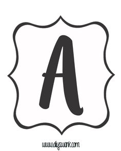 White and Black Letter_A
