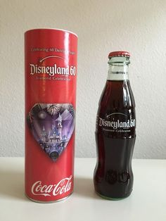 Disneyland 60th Disney Diamond Celebration Coke Coca-Cola Glass Bottle #CocaCola