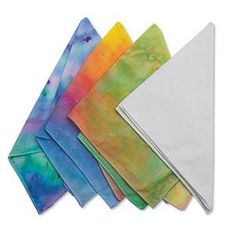 White Bandanas (pack of 12) can be made into prayer flags, have kids write prayer on in sharpie then tie-dye?
