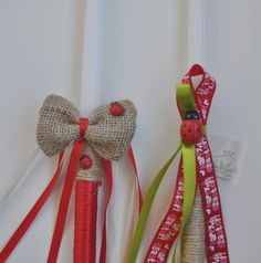 Greek Wedding Shop - Two Ladybug Easter Candles. Easter Lambades to hold the night of Anastaci. (http://www.greekweddingshop.com/two-ladybug-easter-candles/)