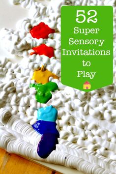 Lots of colorful ideas for sensory invitations to play :: sensory play activities :: exploring color :: color activities