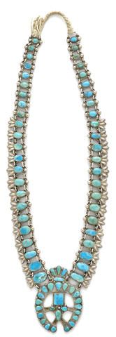 A Zuni squash blossom necklace