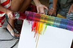 crayon melt on canvas
