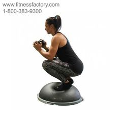 """Introducing BOSU® Elite, a specially designed version of the BOSU® Balance Trainer that helps improve athletic speed, power, body mechanics, and balance, and complements new, WeckMethod™ programming. The BOSU® Elite incorporates a higher density dome and targeted training area defined by a """"Power Line"""" and """"Power Zone"""" to establish optimal body mechanics while performing advanced athletic workouts.  Proudly made in the U.S.A."""
