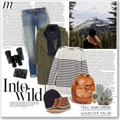 Into the wild by helleka on Polyvore featuring Topshop, J Brand, SOREL, Madewell, Michael Kors, ONLY, Polo Ralph Lauren, Celestron and Anja