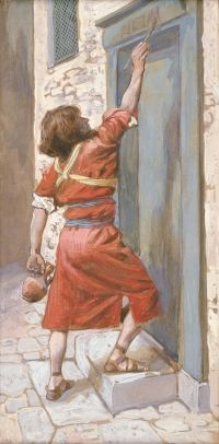 James Jacques Joseph Tissot, The Signs on the Door, c. 1896-1902.