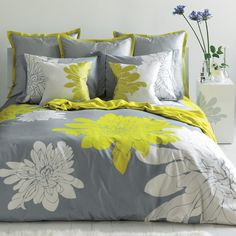 Yellow and Gray Bedding Sets for your Bedroom.
