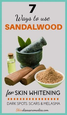 Use sandalwood for skin whitening by mixing it with honey, rosewater, turmeric powder and oatmeal. These recipes will lighten your skin & gives natural glow
