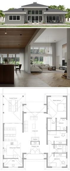 Small House Layout 22 Luxury Home Plans House Plans Floor Plans Homeplans Houseplans Dream House Plans, Modern House Plans, Small House Plans, House Floor Plans, Small House Layout, House Layouts, Small House Interior Design, Modern House Design, Bedroom Floor Plans