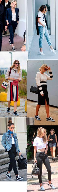 Street style look tênis Vans