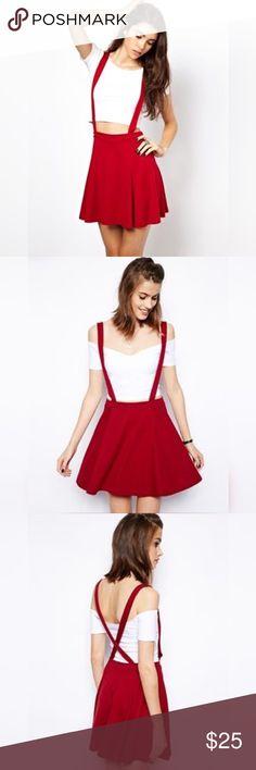 Skater skirt with suspenders NWOT ASOS Skirts Midi