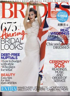 Front Page - Carmen dress by The Couture Gallery designer Britta Kjerkegaard as featured on the cover of Brides Magazine 2010