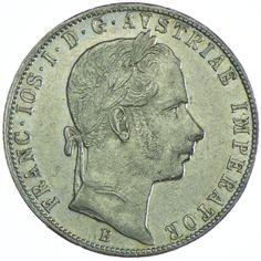 Franz Joseph I. 1848 - 1916 Gulden 1858 B Silber
