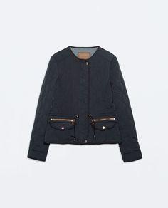 aca01c749c9cc SHORT QUILTED JACKET from Zara Zara Shorts