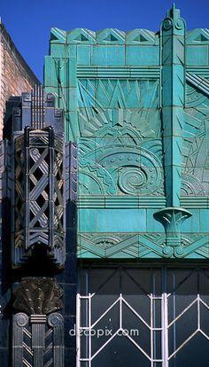 Lavish and flamboyant jazz-age architecture.