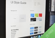 Download UI Style Guide template UI Kit - http://www.vectorarea.com/download-ui-style-guide-template-ui-kit