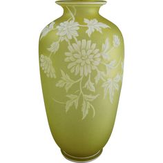 Thomas Webb & Sons English Cameo Glass Vase from greencountry on Ruby Lane