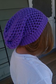 Slouchy hat.