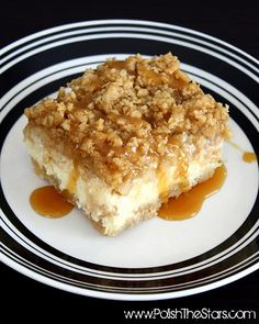 One of the best desserts ever. Rich but not overly sweet. Pie crust, rich cheesecake, topped with apple streudel. Sigh....I use one mixing bowl for everything and don't bother cleaning it out after each layer. I also find the mixer to not be necessary. With the butter i always finish with my hands anyway. It delicious, not much of a mess, and will seriously impress.