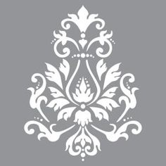 Americana Decor Stencil-Brocade x DecoArt Stencils have pre-cut designs on flexible plastic that simply need to be painted onto any project. Base coat the project, position the stencil and apply paint. These durable stencils can be used over and over. Wall Stencil Patterns, Damask Stencil, Stencil Designs, Paint Designs, Stencil Wall Art, Motif Vector, Mermaid Wall Art, Mandala Stencils, Flower Stencils
