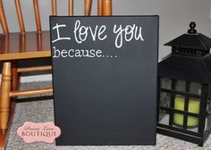 Could easily DIY this. black chalkboard canvas with white lettering. Chalkboard Canvas, Black Chalkboard, Girls Pad, Love Canvas, Hanging Pictures, Vinyl Crafts, Diy Wall Decor, Diy Painting, Decorating Tips