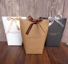 """nice Black White Kraft Paper Bag Bronzing French """"Merci"""" Thank You Gift Box Package Wedding Party Favor Candy Bags with Ribbon Wedding Favors And Gifts, Wedding Candy Boxes, Ribbon Wedding, Wedding Bags, Door Gift Wedding, Creative Box, Creative Gifts, Lolly Bags, Cheap Gift Bags"""