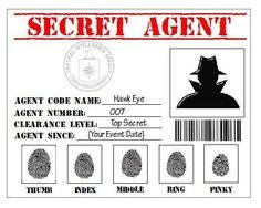 Secret Agent Spy Detective CIA Printable by JumpingSmillezFavors, $4.00