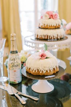 """From the editorial, """"A Watercolor Garden Wedding That's Prettier Than A Picture"""". The best part about this spring wedding? The bride hand-painted and designed the save the date cards, invitations, and all paper goods! 