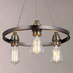 BuyJohn Lewis Bistro Hoop Pendant Ceiling Light 3 Pewter Online At Johnlewis