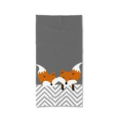 Foxes Towels Bath Beach and Hand Towels Personalized by Lulais