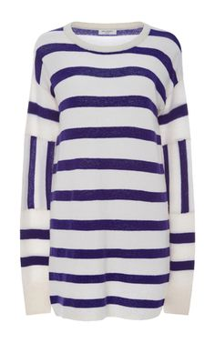 Cashmere Contrast Striped Sweater by EQUIPMENT Now Available on Moda Operandi