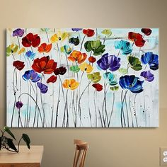 ArtWall Jolina Anthony 'Lilies' Gallery Wrapped Canvas Artwork, 36 by Lily Painting, Painting Prints, Watercolor Paintings, Painting Flowers, Spring Painting, Painting Abstract, Flowers On Canvas, Jar Painting, Painting Clouds